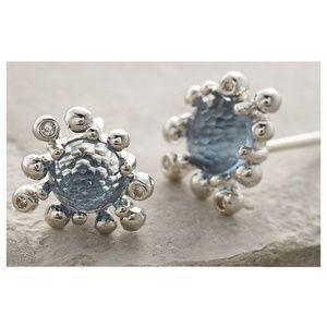 Anthropologie Urchin Stud Earrings in Blue